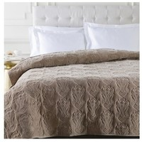 Medici Medallion Taupe Brown Quilt