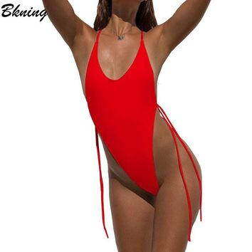 Bknig 2018 Thong Swimsuit Sexy Swimwear Women One Piece Swimsuits Micro Leotard Swimming Suit Female Monokini May Bodysuit