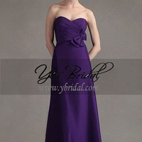 A-Line Sweetheart Floor-Length Satin Winterfest prom Dress SAL0387