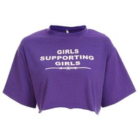 Girls Supporting Girls Cropped Tee