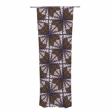 "Miranda Mol ""Butterfly Wings Purple"" Purple Brown Pattern Animal Print Digital Vector Decorative Sheer Curtain"