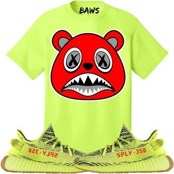 ANGRY BAWS Sneaker Tees Shirt - Yeezy 350 Boost Semi Frozen Yellow
