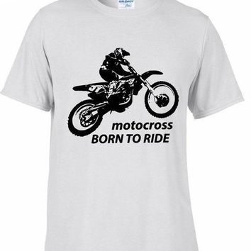 Motocross - Born To Ride - Motorcycle T-shirt
