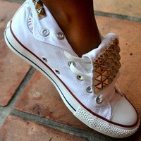 Custom Black Studded Converse
