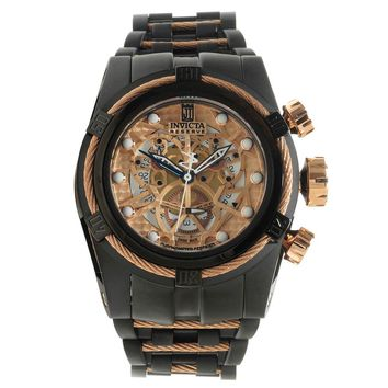 Invicta 14429 Men's Jason Taylor Reserve Skeleton Dial Black IP Steel Bracelet Dive Watch