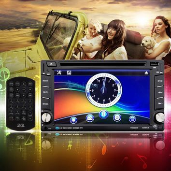 "Double 2 Din 6.2"" HD Car DVD Player Touch Screen Head Units USB/SD AM/FM Radio"