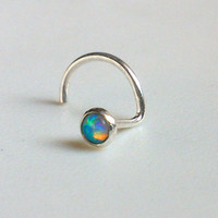 Tiny Opal Nose Stud, 2mm Nose Screw. SPECIAL SALE