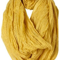 Lime Textured Trim Snood - Scarves - Accessories - Topshop
