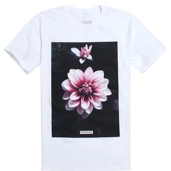 Profound Aesthetic Blooming Lotus T-Shirt - Mens Tee - White