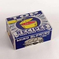 Recipes Tin Cigar Box