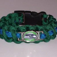 Seattle Sea Hawks Paracord Bracelet Custom Made