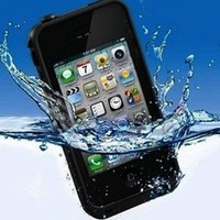 Waterproof Shockproof Dirt Proof Water Case Cover for Apple iPhone4 4S - Red