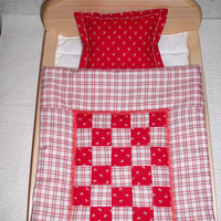 Blanket and pillow for 11-17 inch dolls -Clothes for dolls - Waldorf doll
