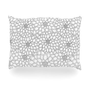 "Julia Grifol ""White Flowers"" Oblong Pillow"