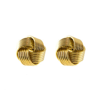 Woven Gold Knot Studs