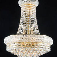 New! French Empire Crystal Chandelier 24X32 - A93-542/15