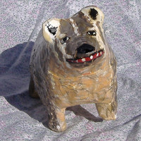American Badger- Paper Mache Amimal Sculpture
