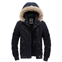 Hot Fashion Hooded Men Winter Jacket Coat High Quality Casual Slim Men's Winter Jackets