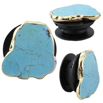 Gold Turquoise Rock Phone Accessory
