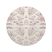 Simple Floral and Shapes on White Coasters