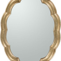 Milburn Wall Oval Mirror Gold - Home Decor | Surya
