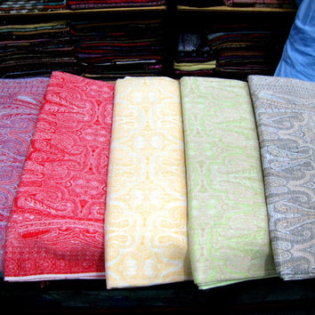 AFGHAN BLANKET Cotton 100% Pure long ethnic bohemian style kashmir thick indian asian design sofa floral futon sheet throw 9x7 new patu