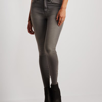 Seriously Stretchy Gray Wash High-Waisted Jegging