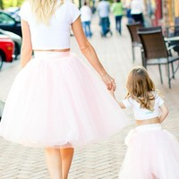 Baby Doll Ball Tutu Skirts for Mommy and Me (Child Size)