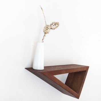 W/S Geometric Black Walnut Floating Shelf