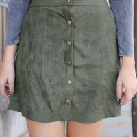 Autumn Solstice Skirt - Olive