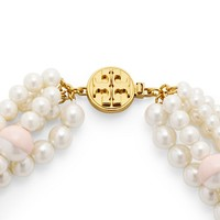Tory Burch Dipped Evie Statement Necklace