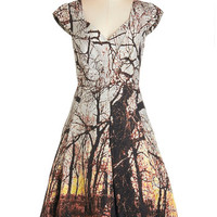 Tracy Reese Long Cap Sleeves Fit & Flare Tracy Reese Through the Trees Dress