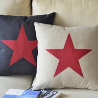 Star Print Square Decorative Pillow.. on Luulla
