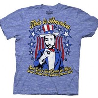 It's Always Sunny in Philadelphia This is America Heather Blue Adult T-shirt