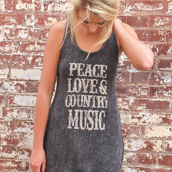 Peace, Love, Country Music Tank