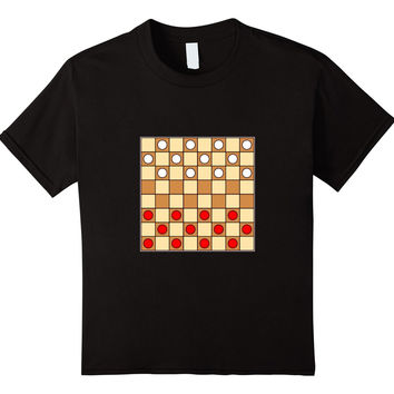 Checkers Computer T-Shirt Retro Game Checkerboard Board