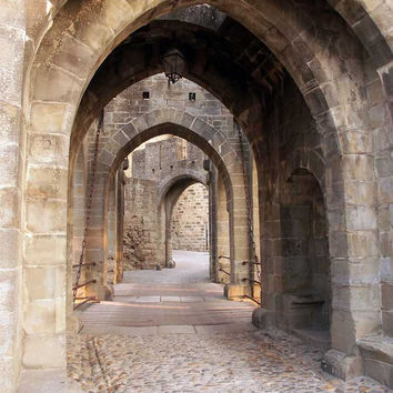 6317 Architecture Stone Alley Path Archway Backdrop