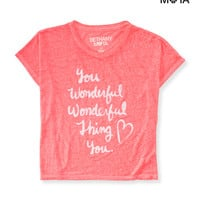 Aeropostale  Womens Wonderful Thing Crop Boxy Top