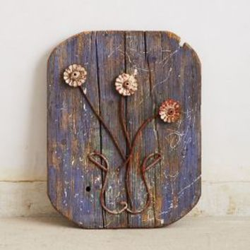Found In Paris: Rustic Flora Wall Sculpture by Anthropologie Assorted One Size Wall Decor