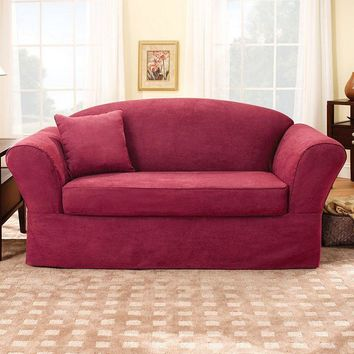 Sure Fit Suede Supreme Loveseat Slipcover