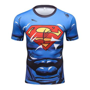 Tight Superman Civil War Tee 3d Printed T-shirt Men Compression Avengers Iron Costumes Fitness Clothes Male MMA t shirt Tops