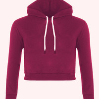Cropped Fleece Hoodies