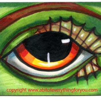 mermaid sea nymph eye original aceo art fantasy fairytale creatures modern sea creatures artwork