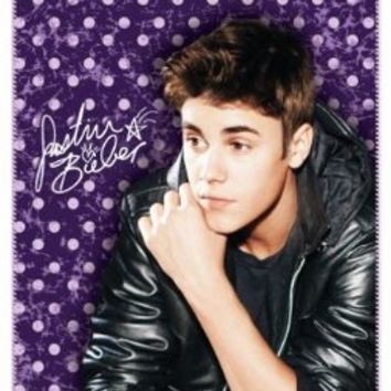 Justin Bieber Vintage Fleece Throw Blanket