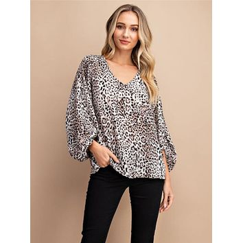 All We Can Do Leopard Blouse