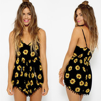 OM Sunflower Romper