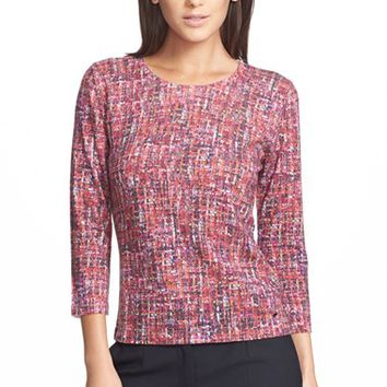 Women's ESCADA Tweed Print Wool Sweater,