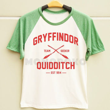 S M L - Gryffindor Shirt Hogwarts Shirt Harry Potter Quidditch Shirt Men TShirts Women TShirts Short Sleeve Baseball Shirts Baseball TShirts