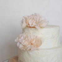 Peach Flower Cake Toppers (50)