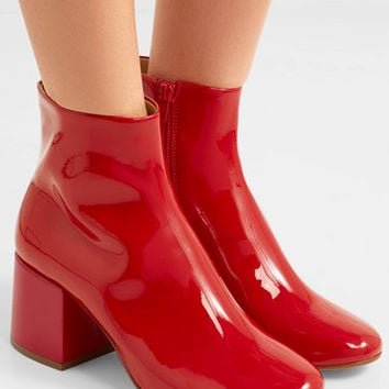MM6 Maison Margiela - Patent-leather ankle boots
